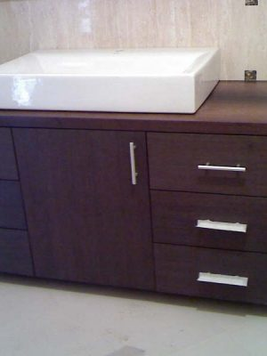 Wenge fürdőszoba bútor