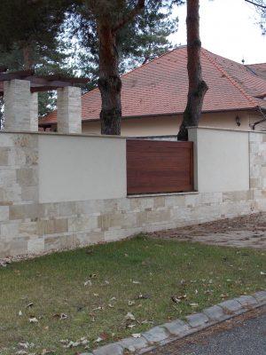 Borovi fenyő kerítésbetétek lazúrozva