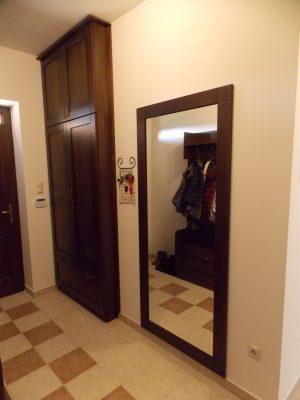 Tölgy előszobabútor, tükörkeret